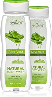 Natural Aloe Vera Body Wash For Dry, Sensitive Skin and Hair - Sulfate-Free, allergens-free Bath and Shower Gel (2-pack: 17 fl. oz)