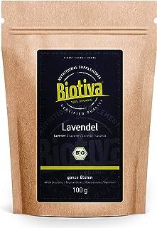 Lavendelblüten Bio ganz 100g - blau - Beste Bio-Qualität - Lavendel-Tee - abgefüllt und kontrolliert in Deutschland DE-ÖKO-005