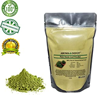 1 lb / 16 oz Neem Leaf Powder No Preservatives 100% All Pure & Natural Vegan, Non-GMO & Gluten Free, Great for Improving Immunity, Skin, Hair & Digestive Functions Azadirachta Indica