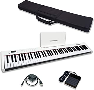 $209 » Dulcette 88-Key Portable Electric Piano Keyboard | Built-In Amplifying Speakers | Semi-Weighted Keys | Electronic Keyboard...