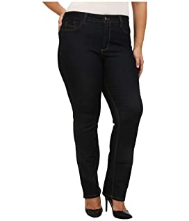 Plus Size Marilyn Straight Contrast Stitching in Dark Enzyme