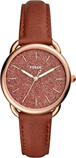 Fossil Tailor Three-Hand Terracotta Leather Watch