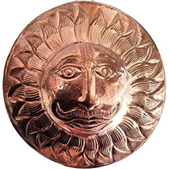 Buy S G U Dedicated To God Copper Surya Sun Dev Wall Hanging Statue Idol With 1 Pitambari Packet 6 Inch Online At Low Prices In India Amazon In