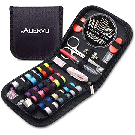 BILIEASY Sewing kit 51 PCS Mini Sewing kit Sewing Kits for Adults Travel Sewing set Sewing thread ROSE RED