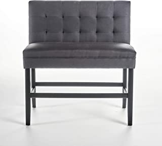 Christopher Knight Home Paddy Tufted Back Fabric Barstool Bench (Dark Charcoal