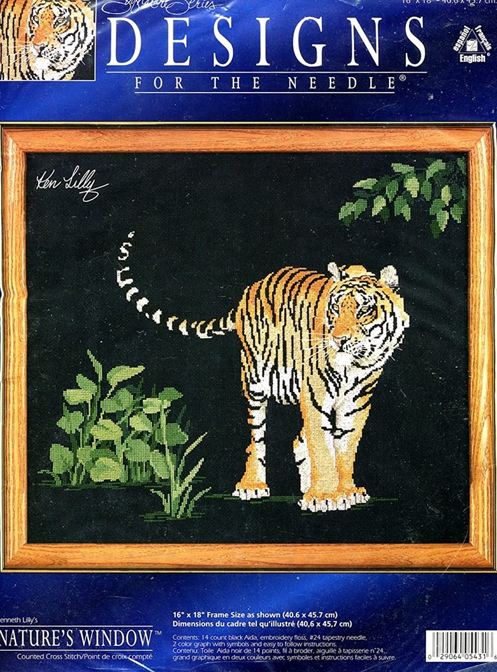 Designs for the Needle Nature's Window The Protector Tiger Counted Cross Stitch Kit