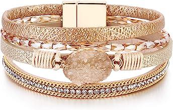 Stackable Bracelets Boho Bracelet Ankh Fashion Style Jewelry Cute Leather Charm Bracelet Bangle Best Friend Gift Her for Him