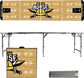 Victory Tailgate NCAA 8'x2' Foldable Tailgate Table with Adjustable Height and Spill Resistant Sealant - Basketball Court Series
