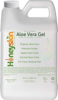 Natural Aloe Vera Leaf Gel - 100% Pure Aloe Leaf Gel for Face and Body After Sun Care - From Fresh Aloe Plants in USA - Hy...