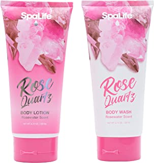 Spa Life Rose Body Wash and Body Lotion 2 Pack