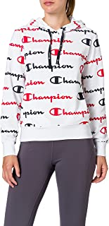 Champion Seasonal AC Logo Allover Hooded Sweatshirt Femme