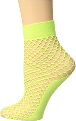 Fishnet Anklet with Solid Foot
