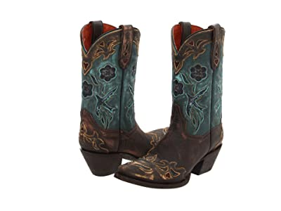 Dan Post Blue Bird (Sanded Copper/Turquoise Blue Bird) Cowboy Boots