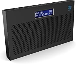 Majority Histon II DAB/DAB+ Digital & FM Portable Radio, Dual Alarm Clock, Battery Portable or Mains Powered (Black)