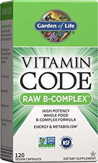 Garden of Life Vitamin B Complex - Vitamin Code Raw B Vitamin Whole Food Supplement, Vegan, 120...