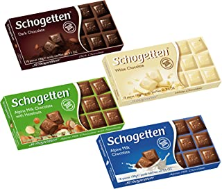 Schogetten Top Selling German Assorted Chocolates, Variety Pack (Bundle of 4 chocolates)