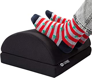 "Foot Rest Under Desk Cushion - Adjustable Height 6"" - Ergonomic Half-Cylinder Pad for Extra Leg Support - Breathable Mesh ..."