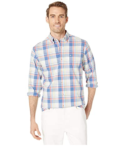 Southern Tide Riverbank Plaid Sports Shirt (Marshmallow) Men