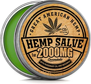 Hemp Oil Salve for Pain Relief - 2000 Mg - Fast Acting & Natural Hemp Salve Made in USA - Fast Muscle, Joint, Neck & Back Pain Relief - Anti Inflаmmаtory Hemp Balm - Sciatica & Arthritis Pain Relief
