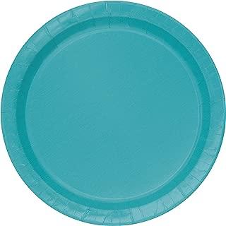 Unique Party -  Platos de Papel - 17.1 cm - Azul Cerceta - Paquete de 20 (32124)