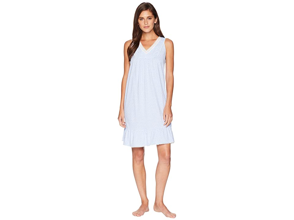 Carole Hochman Sleeveless Short Gown (Blue Geo) Women