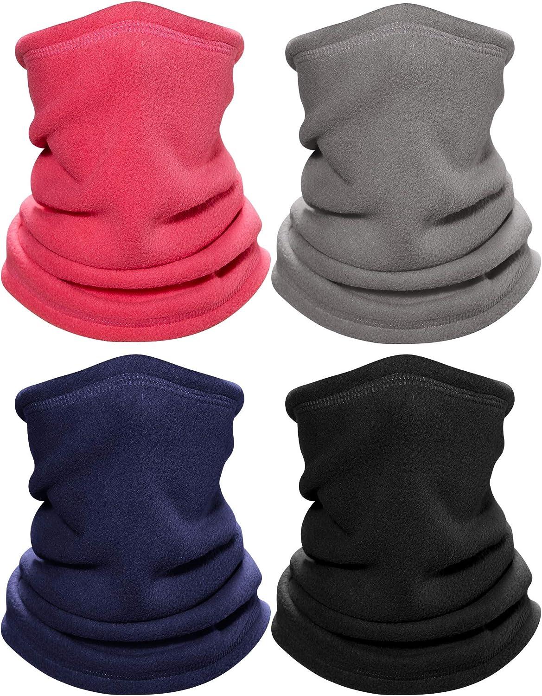 4 Pieces 100% quality warranty Kids Winter Neck Gaiter Warmer Ma Warm Fleece Face New popularity Dust