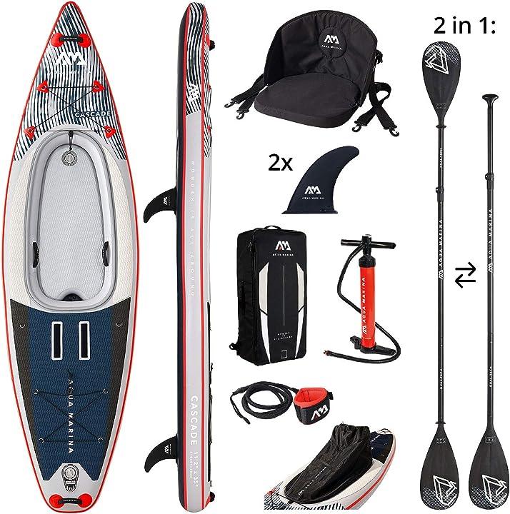 "Kajak aquamarina cascade 11'2"", sup/kayak unisex adulto, multicolore, taglia unica 05.433.00"