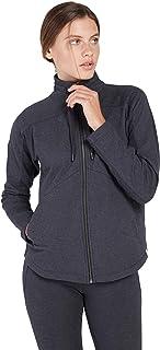 Satva Women's Super Soft Organic Cotton Full Zip Jacket Sweatshirt -GIRI JACKET