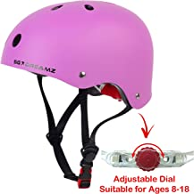 Youth Helmet – Multi-Sport Helmet for Skateboard Scooter Skating Bicycle Bike Cycling - Adjustable for Youth from Ages 8 to 18 - Certified for Safety