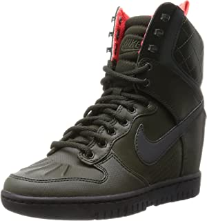 size 40 da18e 7dc92 Nike Dunk Sky Hi 2.0 SneakerBoot Reflective 807401-300 Hidden Wedge Women  Boots