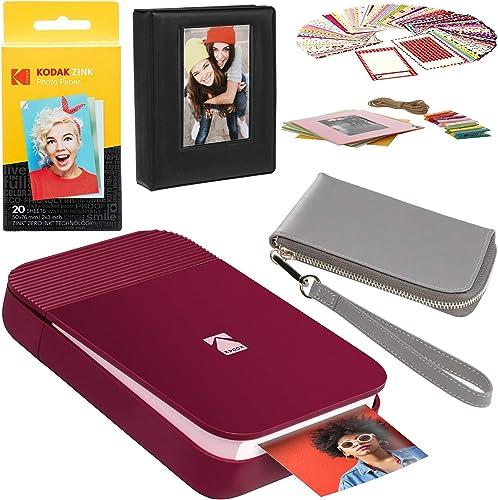 popular KODAK online sale Smile Instant Digital Printer (Red) discount Carrying Case Kit outlet sale