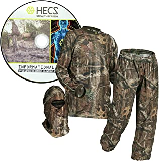 HECS Hunting 3-Piece Camo Suit - Hunting Apparel for Men...