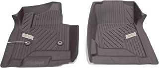 GM 84073617 Premium Front All-Weather Floor Liners in Cocoa with GMC Logo, for Crew and Double Cab Vehicles with Carpets (B30)