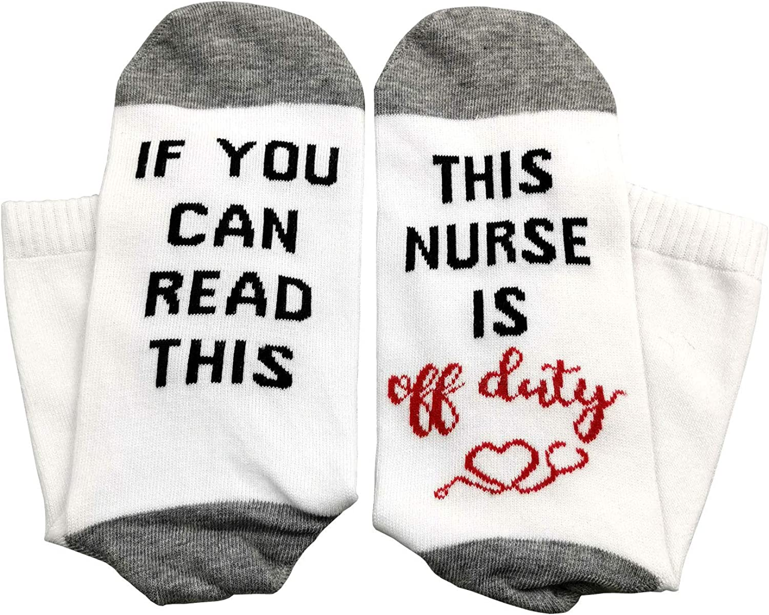 1 Pair of Unisex Crew Socks If You Can Read This Teacher Is Off Duty Funky Socks Teachers Gift for Holiday