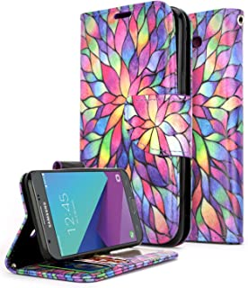 ZTE Maven 3 Case, ZTE Overture 3 Case, ZTE Prelude Plus Case(4G LTE), NageBee [Kickstand Feature] Premium PU Leather Flip Fold Wallet Case with [ID&Credit Card Slot] (Purple)