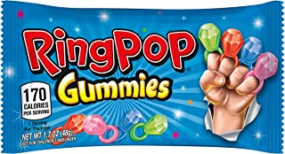 Ring POP Gummies Rings Candy Assorted Flavors Variety - Great for Halloween (Pack Of 16)