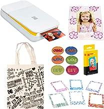 KODAK Smile Instant Digital Printer (White/Yellow) Magnetic Photo Frames Kit