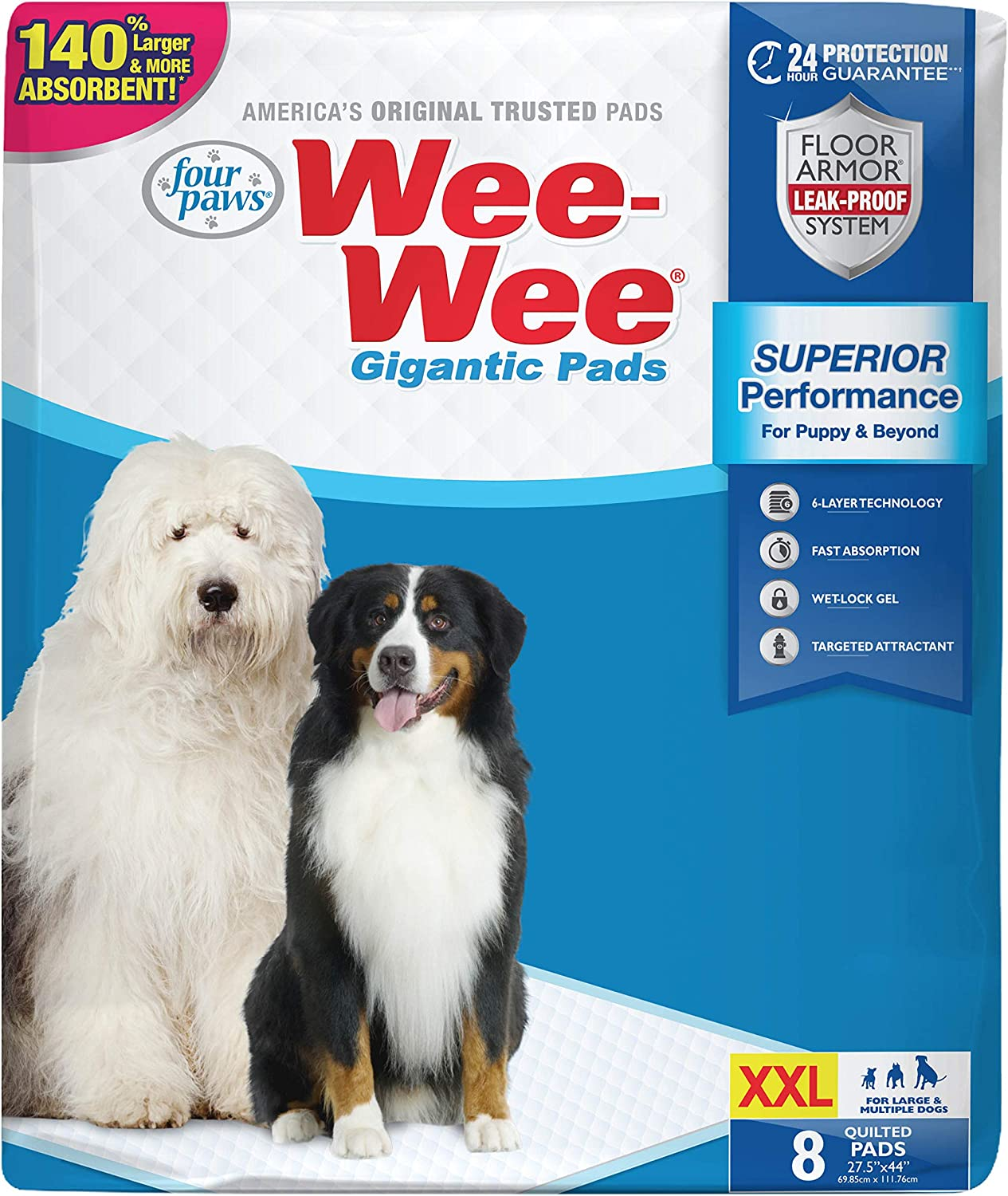 Four Paws Wee-Wee Puppy Training Gigantic Pee Free shipping on Large-scale sale posting reviews 27.5