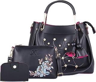 Speed X Fashion Women's Handbag With Sling Bag & Card Slot (Set of 3)
