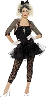Smiffy's Adult Women's 80's Wild Child Costume, Jacket, Top, Tutu, Leggings Gloves and Headband, Back to the 80's, Serious Fun, Size: 16-18, 36233