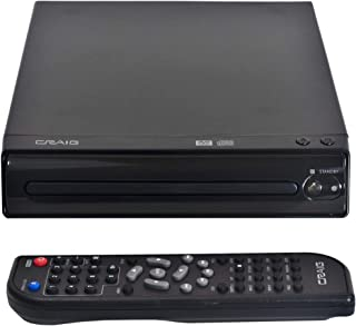 Craig CVD512a Compact DVD Player with Remote in Black | Compatible with DVD/DVD-R/DVD-RW/JPEG/CD-R/CD-RW/CD | Progressive ...