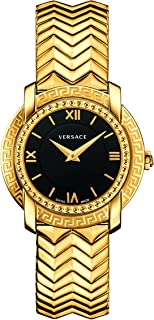 Versace Women's 'DV-25' Swiss Quartz Stainless Steel Casual Watch, Color:Gold-Toned (Model: VAM050016)