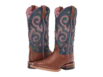 Ariat Baja Venttek (Oxford Tan/Turquoise Tie-Dye) Cowboy Boots