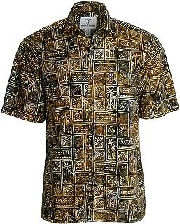 Mens Outer Banks Batik Cotton Hawaiian Shirt