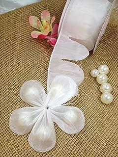 Ohah Craft Flower Shape Pull Bow Jordan Almonds Candy Bow Ribbon Decor Wedding Favor (White)