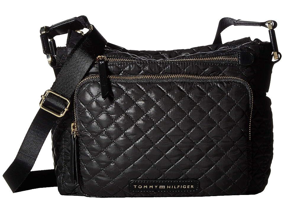 Tommy Hilfiger Alva CV Hobo (Black) Handbags