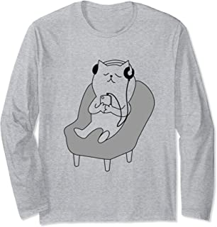 Lying Cat Shirt Long Sleeve T-Shirt