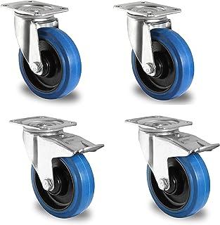 1 set Blue Wheels transportwielen 125 mm 200 kg / rol stuur/FS