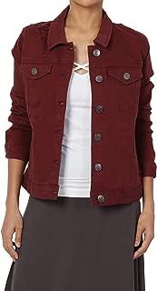 TheMogan Juniors Vintage Distressed Dark Washed Slim Fit Cropped Denim Jacket