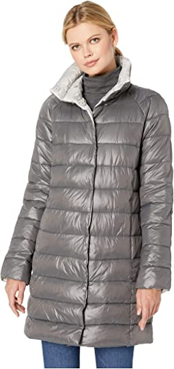 Snap Front Puffer with Contrast Lining